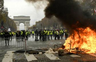 """فرانسویها پشت """"جلیقهزردها"""" ایستادند"""