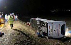 واژگونی اتوبوس در گچساران