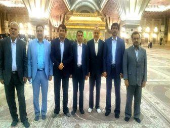 منتخبان مجلس دهم استان اردبیل در حرم حضرت امام (ره)