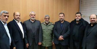گفتوگوی تلفنی سردار «قاآنی» با رئیس حماس بعد از جهاد اسلامی