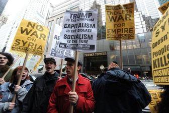 تجمع اعتراضی مردم نیویورک مقابل برج ترامپ