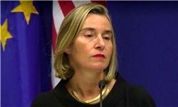 موگرینی: از تلاشهای فرانسه، انگلیس و آلمان برای حفظ برجام حمایت میکنیم