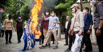 تجمع دانشجویان مقابل سفارت ارمنستان در تهران