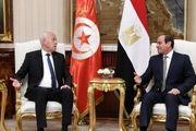 رایزنی رئیس جمهور تونس با «عبدالفتاح السیسی»
