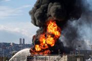 آتش سوزی گسترده نزدیک کارخانهای نظامی در سرزمینهای اشغالی+فیلم