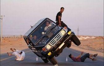 تفریحات عجیب و غریب جوانان سعودی/عکس