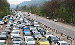 ترافیک نیمه سنگین در محورهای چالوس - کرج و رشت - قزوین