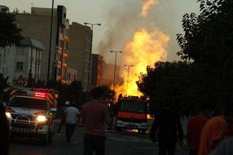 وقوع حادثه ای دیگر در محل انفجار شهران+تصاویر