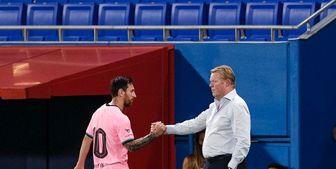پیروزی بارسلونا با درخشش مسی و کوتینیو