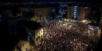 تجمع هزاران نفر مقابل اقامتگاه نخست وزیر رژیم صهیونیستی