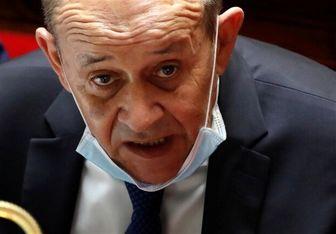 نشست وزیر خارجه فرانسه و رئیس جمهور لبنان در بیروت