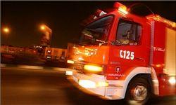 انبار لوازم بهداشتی خیابان ملاصدرا در آتش سوخت+تصاویر