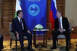 رؤسای جمهوری ازبکستان و روسیه دیدار کردند