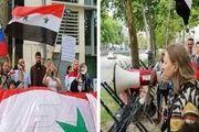 تجمع اعتراضی مقابل سفارت آمریکا در بروکسل