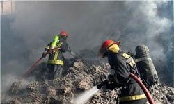 آتشسوزی در انبار لوازم خانگی در میدان شوش