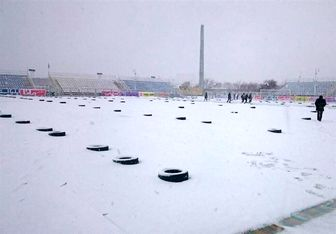 محور کندوان پوشیده از برف شد
