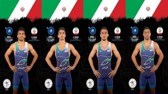راهیابی ۴ نماینده ایران به یک چهارم نهایی کشتی آزاد قهرمانی جهان