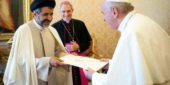 سفیر ایران در واتیکان استوارنامه خود را تقدیم پاپ کرد