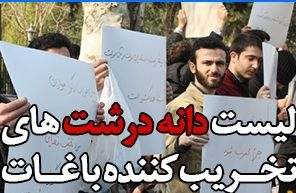 لیست دانه درشتهای تخریبکننده باغات تهران و مشهد!