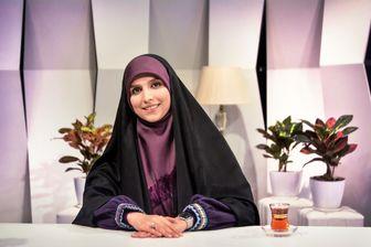 خانم مجری با حجابی مثال زدنی/ عکس