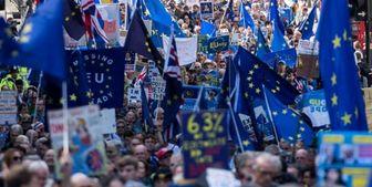 تظاهرات دهها هزار مخالف اجرای برگزیت در انگلیس