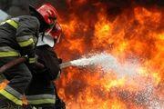 آتش سوزی انبار چوب ۱۶ هزار متری در شهریار+عکس