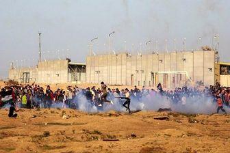 زخمی شدن ۶۹ فلسطینی در حمله صهیونیستها به تظاهرات بازگشت