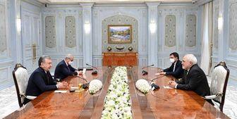 دیدار وزیر امور خارجه با رئیس جمهور ازبکستان