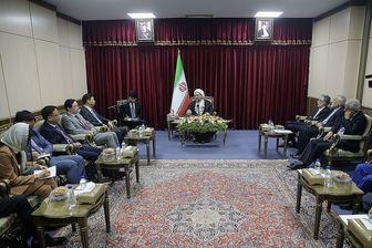 تقدیر آملی لاریجانی از ایستادگی جمهوری خلق چین در مقابل آمریکا