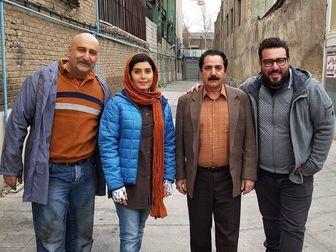 تیپ پرویز پرستویی و محسن کیایی در اکران «مطرب»/ عکس