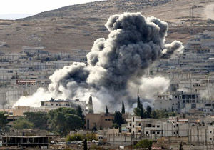 حمله هوایی ترکیه به نزدیک یک پایگاه نظامی روسیه در سوریه