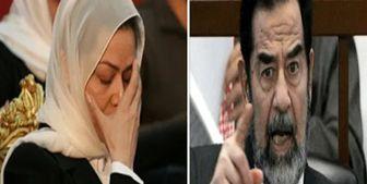 تلاش ضد ایرانی دختر صدام در اعتراضات عراق+عکس