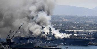 18 ملوان آمریکایی در آتش سوزی ناو «بونهام ریچارد» مجروح شدند
