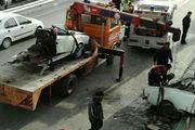 2 کشته در پی برخورد یک تانکر با وانت نیسان