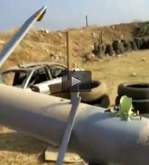 سقوط جدیدترین پهپاد رژیم صهیونیستی بر فراز آسمان طرابلس / فیلم