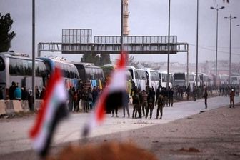 ۱۱۲ تروریست از دوما خارج شده اند