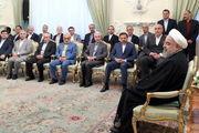 دیدار عیدانه روحانی با هیات دولت/ گزاشر تصویری