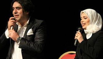عاشقانه های خواننده مشهور برای خانم مجری /عکس