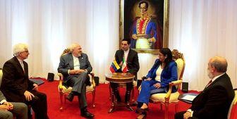 دیدار و گفتگوی ظریف با معاون اول رئیس جمهور ونزوئلا