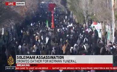 بازتاب جهانی مراسم تشییع سردار سلیمانی در زادگاهش