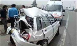 ۱ کشته و ۵ مجروح در تصادف بین تریلی و دو پراید