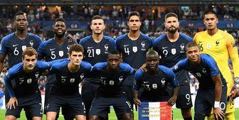 اعلام لیست تیم ملی فرانسه