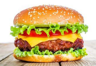 برای یک ساندویچ همبرگر چقدر آب صرف شده؟ +جدول