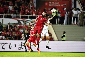 تساوی سوریه و فلسطین در جام ملت های آسیا