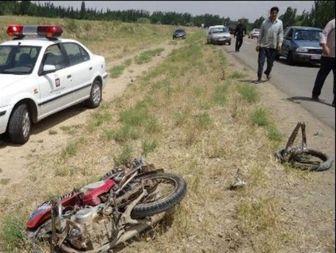 سانحه رانندگی در میاندوآب، جان موتور سوار 18 ساله را گرفت + تصاویر