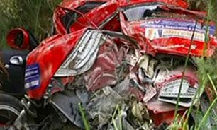 کشته شدن مردی در حادثه رالی + فیلم