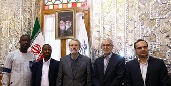 پیشنهاد جدید لاریجانی به نماینده غَنا درباره گسترش همکاریها