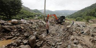 بارانهای سیل آسا در کره جنوبی