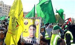 جشن آزادی اسرای فلسطینی در رامالله