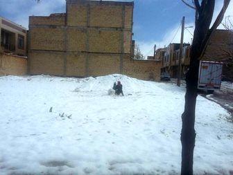 بارش برف بهاری در چهار محال بختیاری+عکس